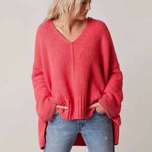Free People 'Take Over Me' V Neck Sweater